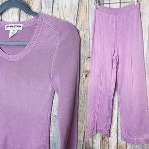 Sonia Rykiel Lavender Cotton Lounge Wear Set